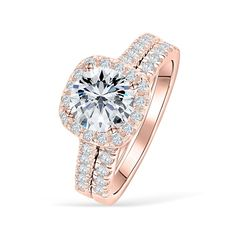 Emerald Halo Engagement Ring Two Tone Gold Halo Ring Floral Natural Emerald Engagement Ring - Fine Jewelry Ideas Round Halo Engagement Rings, Wedding Engagement, Halo Rings, Promise Rings, Wow Products, Wedding Rings, Gold Wedding, Bridal Rings, Rustic Wedding