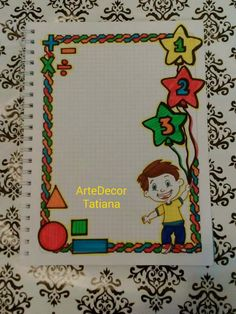 Imagen relacionada Page Borders Design, Border Design, Angst Im Dunkeln, Holiday Homework, Math Design, Diary Decoration, Classroom Birthday, Notebook Art, Hand Lettering Alphabet