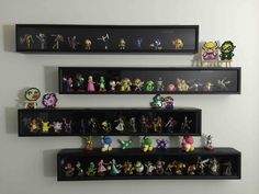 advantage of the Michaels sale, this is the result! (amiibo display) Took advantage of the Michaels sale, this is the result! (amiibo display)Took advantage of the Michaels sale, this is the result! Amiibo Display, Funko Pop Display, Display Shelves, Display Ideas, Display Cases, Wall Shelves, Glass Shelves Kitchen, Diy Kitchen Storage, Diy Storage