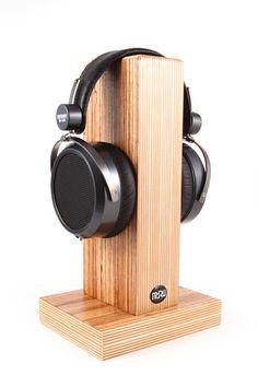 Wooden handwork headphone earphone stand holder shelves desktop stand ebay my style - Wooden headphone holder ...