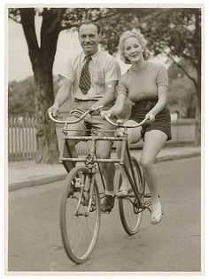 1930's Sociable tandem bicycle