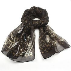 Louis Vitton scarf, coffee