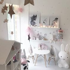 I love this room!Picture @mykindoflike ❤️#decokids#kidstyle#rooms#miffy#wallpaper#nordicrooms