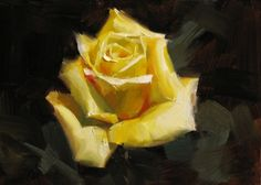 Texas Yellow Rose, painting by artist Qiang Huang