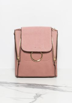 Melanie Pink Ring Detail Cross Body Bag