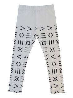 Mainio Clothing - Leggings with symbol print - off white