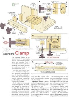 #3134 Adjustable Tenoning Jig Plans - Joinery