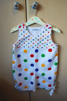 Babies spotted romper suit by cakenjelly on Etsy