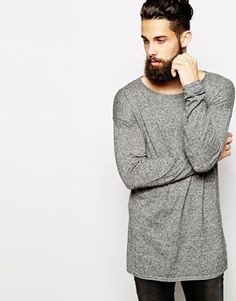 Enlarge ASOS Longline Jumper with Scoop Neck