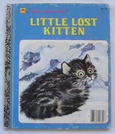 Little Lost Kitten, Vintage Little Golden Book,  by Nina, illustrated by Feodor Rojankovsky