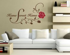 Wandtattoo Sweet Home Rose
