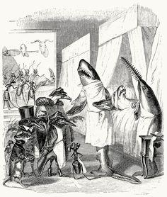 And you played dead?  J-J. Grandville, from Vie privée et publique des animaux (Public and Private Life of Animals), under the direction of P. J. Stahl, Paris, 1867.