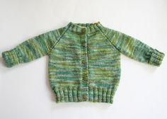 Top Down Raglan Baby Sweater by Carole Barenys - free