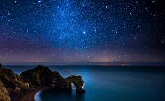 Milky Way Above Durdle Door, via Flickr.