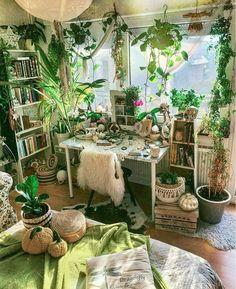 Interior Design Living Room, Living Room Decor, Interior Livingroom, Hippie Living Room, Interior Design Plants, Cafe Interior, Interior Ideas, Room Ideas Bedroom, Bedroom Designs