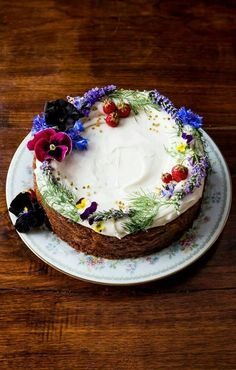 Spiced honey cake with frosting