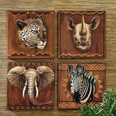 safari decor | Ceramic Safari Wall Decor by Elke