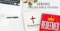Win copies of LifeWay Women's spring online Bible studies!  Study The Gospel of Mark and Redeemed with LifeWay Women this spring. @lifeway @lifewaywomen