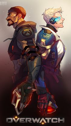 Overwatch - Soldier 76/Reaper Fanart