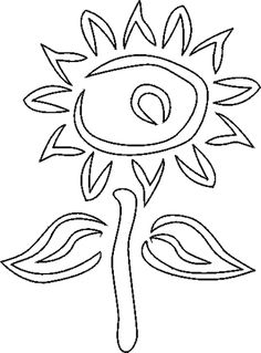 Free Stencils Collection: Flower Stencils: Free Stencil: Sunflower