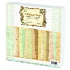 "Prima Marketing 12""x12"" Paper Pad - Ledger 844424"