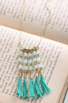 Fringe Bead Necklace OR individual strands would make nice earrings too