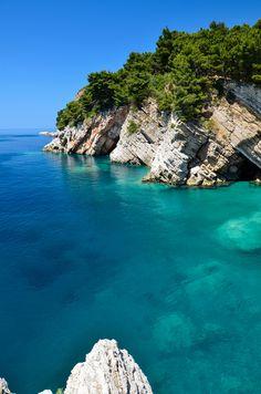 Adriatic Cliffs (Petrovac, Montenegro). Photograph by Nikolay Sapronov