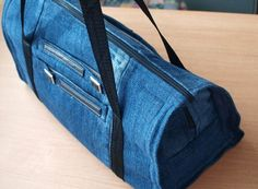 Upcycle an old pair of Jeans into this fantastic Bag that is perfect for daytime, weekends, overnight stays and more.  Check out the Dress Upcycle too.