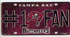 Tampa Bay Buccaneers #1 Fan License Plate