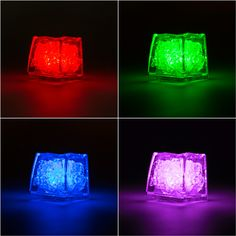 Submersible Colored LED Light Up Ice Cubes by SmartyHadAParty.com!