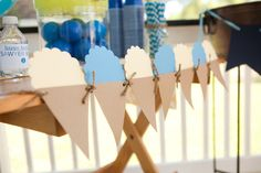 Blue Balloon Themed Ice Cream Party - Kara's Party Ideas - The Place for All Things Party