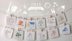 2015 Letterpress Coaster Calendar - The True Courage