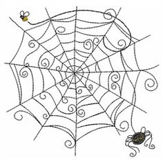 spider web embroidery
