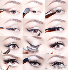 MAKEUP: Eye makeup in stages...