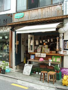 Coffee shop, Seoul photograph by handsforholding; I want to go to every cute coffee shop I see in Korea!