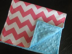 Burp Cloth Burp Rag Snuggle Blanket Comfort Blanket in Super Soft Snuggly Minky with Cheveron on Etsy, $6.99
