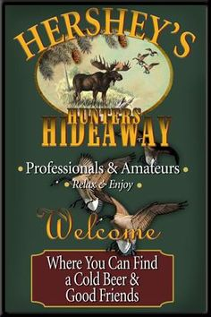 Personalized+Custom+Hunting+Lodge+Sign