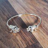 Double Elephant Bracelet   ootdfash