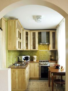 This Kitchen works well as it offer more top shelving. Giving more storage space.