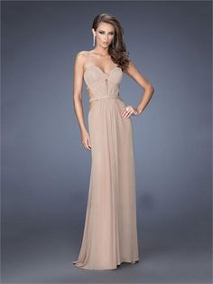 Sweetheart Cutout Open Back Chiffon Prom Dress PD1418 www.homecomingstore.com $180.0000