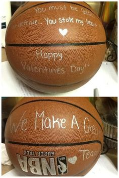 My boyfriend loves basketball so, for Valentine's Day, I made him this simpl… … – presents for boyfriend birthday Valentine Love, Cute Valentines Day Ideas, Valentines Day For Boyfriend, Birthday Present For Boyfriend, Valentines Gifts For Boyfriend, Gifts For Your Boyfriend, Valentine Day Gifts, Boyfriend Ideas, Kids Valentines