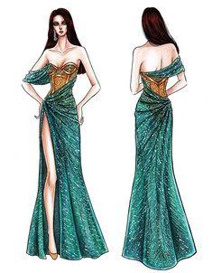 Dress Design Drawing, Dress Design Sketches, Fashion Design Sketchbook, Fashion Design Drawings, Fashion Sketches, Fashion Drawing Dresses, Fashion Illustration Dresses, Fashion Dresses, Star Fashion