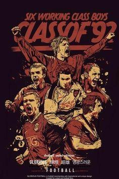 Class of 92 Manchester United Wallpaper, Manchester United Legends, Manchester United Football, Football Icon, Football Art, Man Utd Fc, Cristiano Ronaldo Lionel Messi, Football Wallpaper, Sports Figures