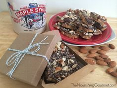 Almond Roca with Maple Syrup (Grain/Corn Syrup-Free)
