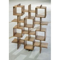 Yves Raschle and Thomas Wüthrich Enam Bookcase  Solid teak, oiled. Consisting of two elements, infinitely extendable.