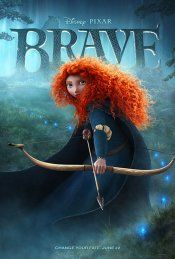 Brave movie poster. the trailer makes this look like fun.