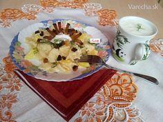 Ťapky s bryndzou, kôprom a slaninkou (fotorecept) - recept | Varecha.sk Pudding, Desserts, Food, Basket, Tailgate Desserts, Deserts, Custard Pudding, Essen, Puddings