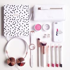 All White   #white #flatlay #beauty #fashion #pink