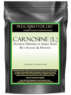 Carnosine (L) - Natutral Dipeptide of Amino Acids Beta-Alanine