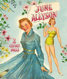 June Allyson paper dolls.